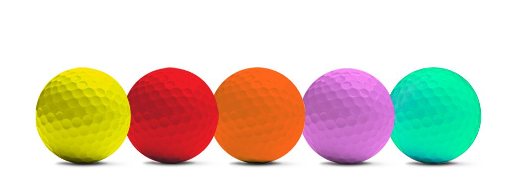 coloured golf balls by Redline