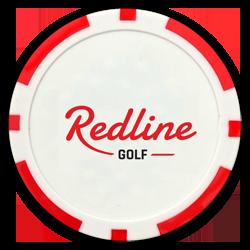 poker chip golf bal marker redline logo