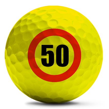 bedrukte gekleurde golfballen