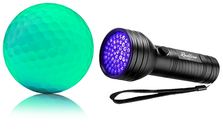 Rechargable glow in the dark golf balls